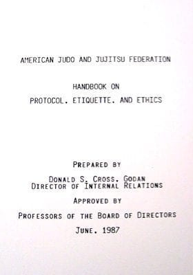 AJJF Handbook on Protocol, Etiquette, and Ethics