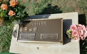 Grave Marker for Bettie Fisher