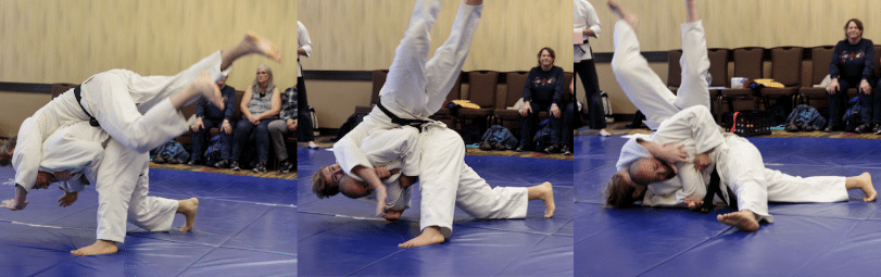 Seoi Nage transition into hold-down.