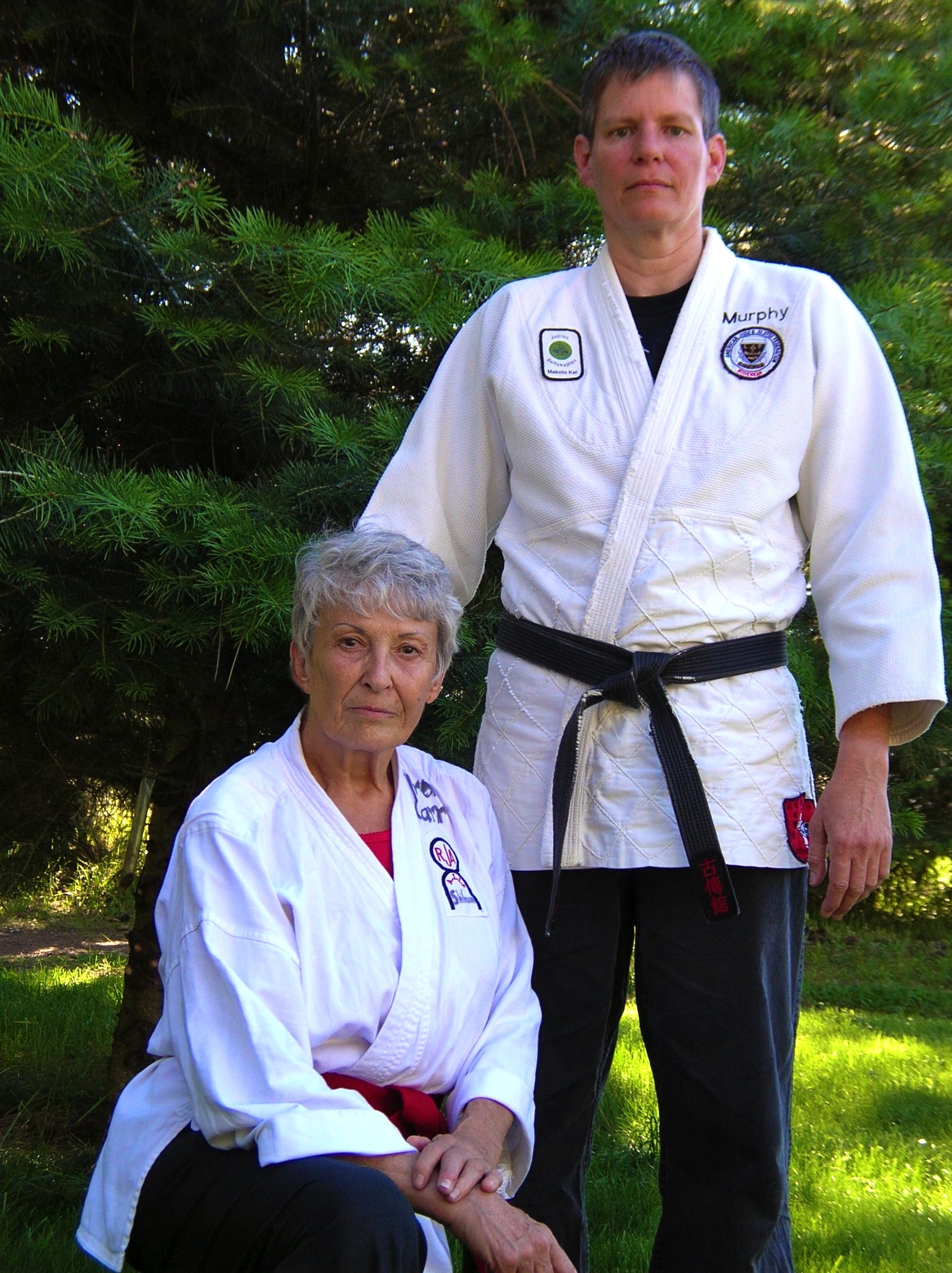 Professor Jane Carr and Sensei Katie Murphy Stevens, 2010.