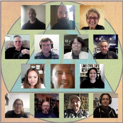 A Collage of the facilitators who did tech support for the online AJJF Convention